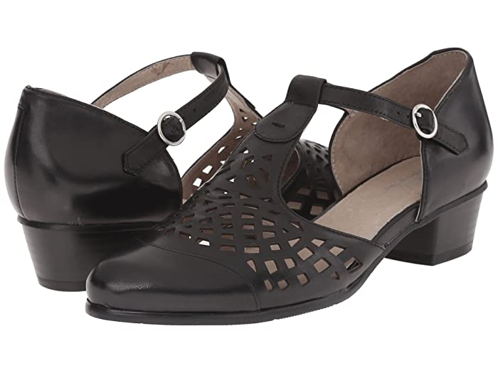 Vintage Sandals | Wedges, Espadrilles – 30s, 40s, 50s, 60s, 70s Spring Step Maiche Black Womens  Shoes $129.95 AT vintagedancer.com