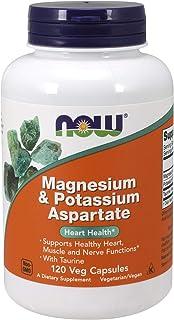 Now Foods Magnesium and Potassium Aspartate, Capsules, 120ct
