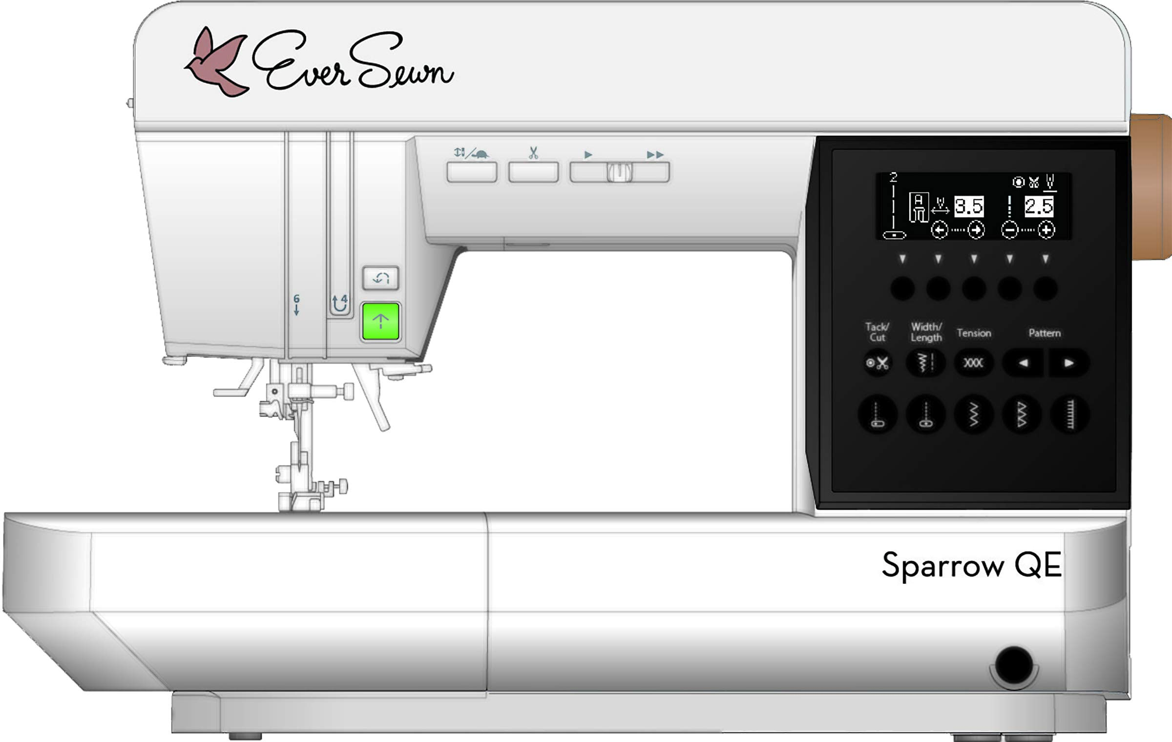 EverSewn Sparrow QE - Máquina de coser y acolchar profesional ...