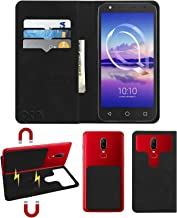 Acm Magic Magnetic 2 in 1 Leather Flip Case/Back Cover Compatible with Alcatel U5 Hd Mobile Flap Royal Black