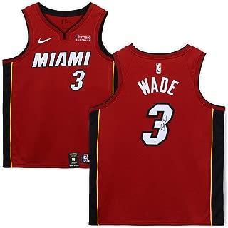 Dwyane Wade Miami Heat Autographed Red Nike Swingman Jersey - Fanatics Authentic Certified - Autographed NBA Jerseys