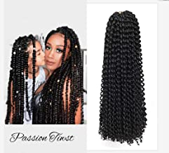 8 Packs Passion Twist Crochet Hair 18 Inch Water Wave Braids for Crochet Passion Twist Braiding Hair Long Bohemian Locs Hair Extensions (18 Inch, 1B)