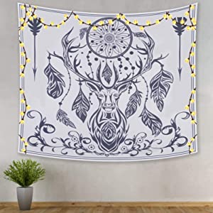 Wall Tapestry Hanging Decor for Bedroom Black White Indian Trippy Aesthetic Moon Chakra Psychedelic boho Tarot Space Skull Bohemian Tapestry Decoration for Living Room Backdrop Dorm for Teen Girl Men