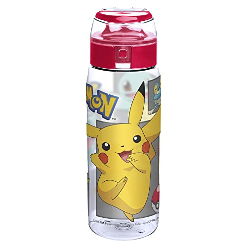 BPA Free 24 oz Set of 1 Just funky Pokemon Squirtle w//Water Droplets Plastic Water Bottle