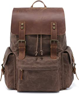 Best vintage canvas and leather backpack Reviews