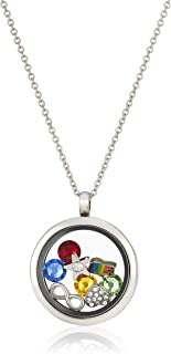Mestige Sunflower Floating Charm Necklace with Swarovski Crystals