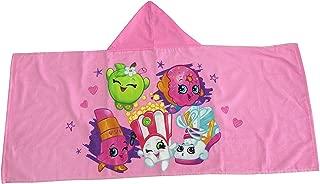 Shopkins Hooded Towel For Bath, Pool, or Beach (Pink)