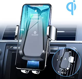 VICSEED Wireless Car Charger Mount, 2019 Newest Qi Fast Charging Auto-Clamping Car Mount, CD Slot Air Vent Car Phone Holder for iPhone 11 Pro Max Xs Xr X 8 Plus Samsung Galaxy Note 10 10+ S9 8 S8 S8+