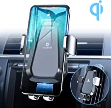 VICSEED Wireless Car Charger Mount, 3rd Generation 10W Qi Fast Charging Auto-Clamping CD..
