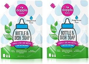 DAPPLE Baby Bottle and Dish Liquid Refill, Fragrance Free Dish Soap, Plant Based,..
