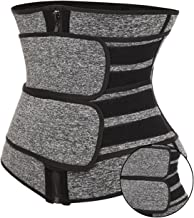 Yokbeer Taille Trainer Voor Dames & Menworkout Gewichtsverlies Taille Cincher Trimmer Slemer Body Shaper Belt (Color : Gra...