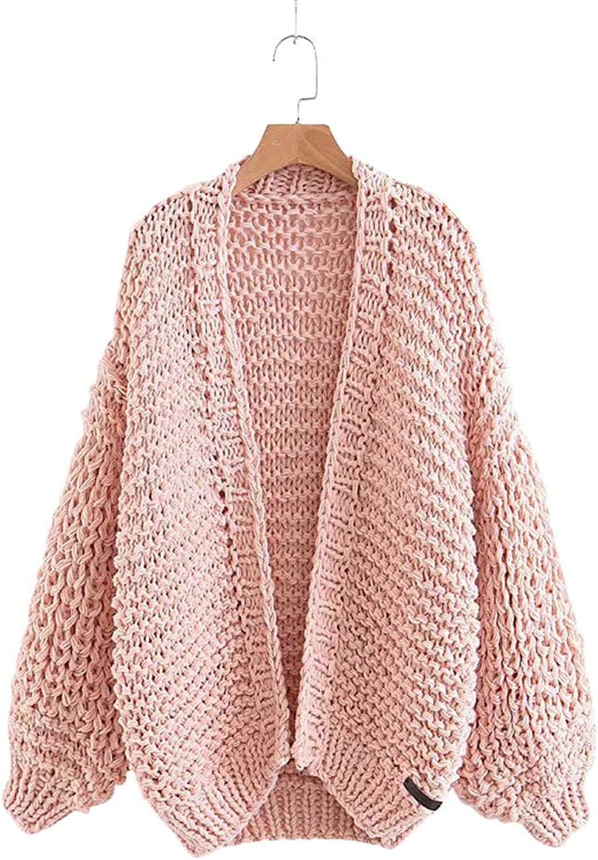 Gamery Women's Winter Bubble Long Sleeve Open Front Chunky Cardigan Sweaters