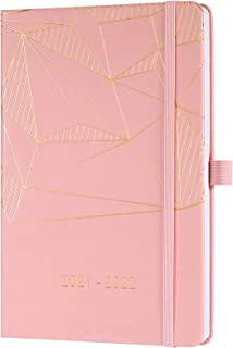 2021 2022 Diary - Academic Weekly & Monthly A5 Diary, from July 2021 to June 2022, with Pen Holder, Inner Pocket, Banded, ...
