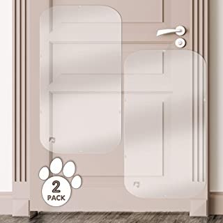 PETFECT Door Scratch Protector Premium Dog Door Cover for Interior & Exterior Use - Clear