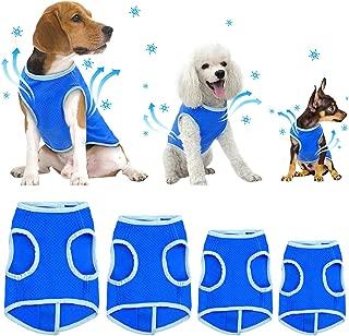 SELMAI Dog Swamp Cooler Vest Harness Evaporative Jacket Comfort Adjustable Breathable Cooling Coat for Small Medium Large Cat Shirt for Pet Walking Hunting Training Sport Outdoor Hiking in Summer