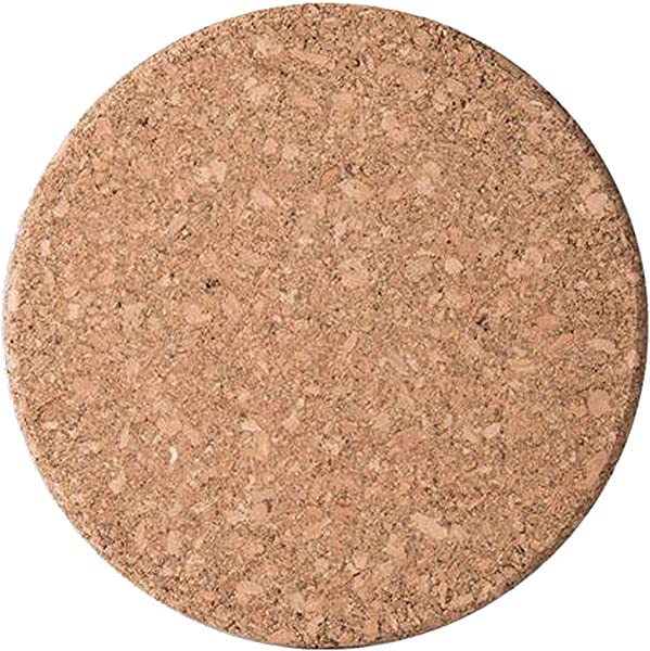 Cork Coasters Round Edge 6 Pack Set Natural And Eco Friendly Heat Resistant Reusable For Mugs Cups And Glasses To Drink Coffee Tea Other Hot Beverages Wine Cold Beer Natural Cork