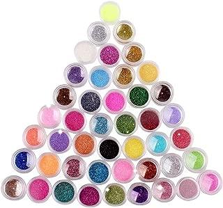 NYKKOLA 72 Colors Nail Art Make Up Body Glitter Shimmer Dust Powder Decoration