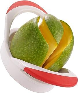 Westmark Coupe-Mangue, 20 x 10,5 x 6,5 cm, Acier Inoxydable/Plastique, Blanc/Rouge/Argent, 51642270