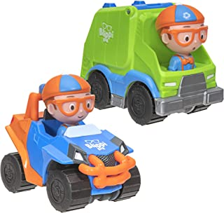 Blippi Mini Vehicles 2 Pack, Blippi Mobile and Garbage Truck