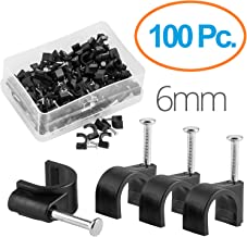Maximm Cable Clips 100 pcs Black - 6mm with Steel Nail