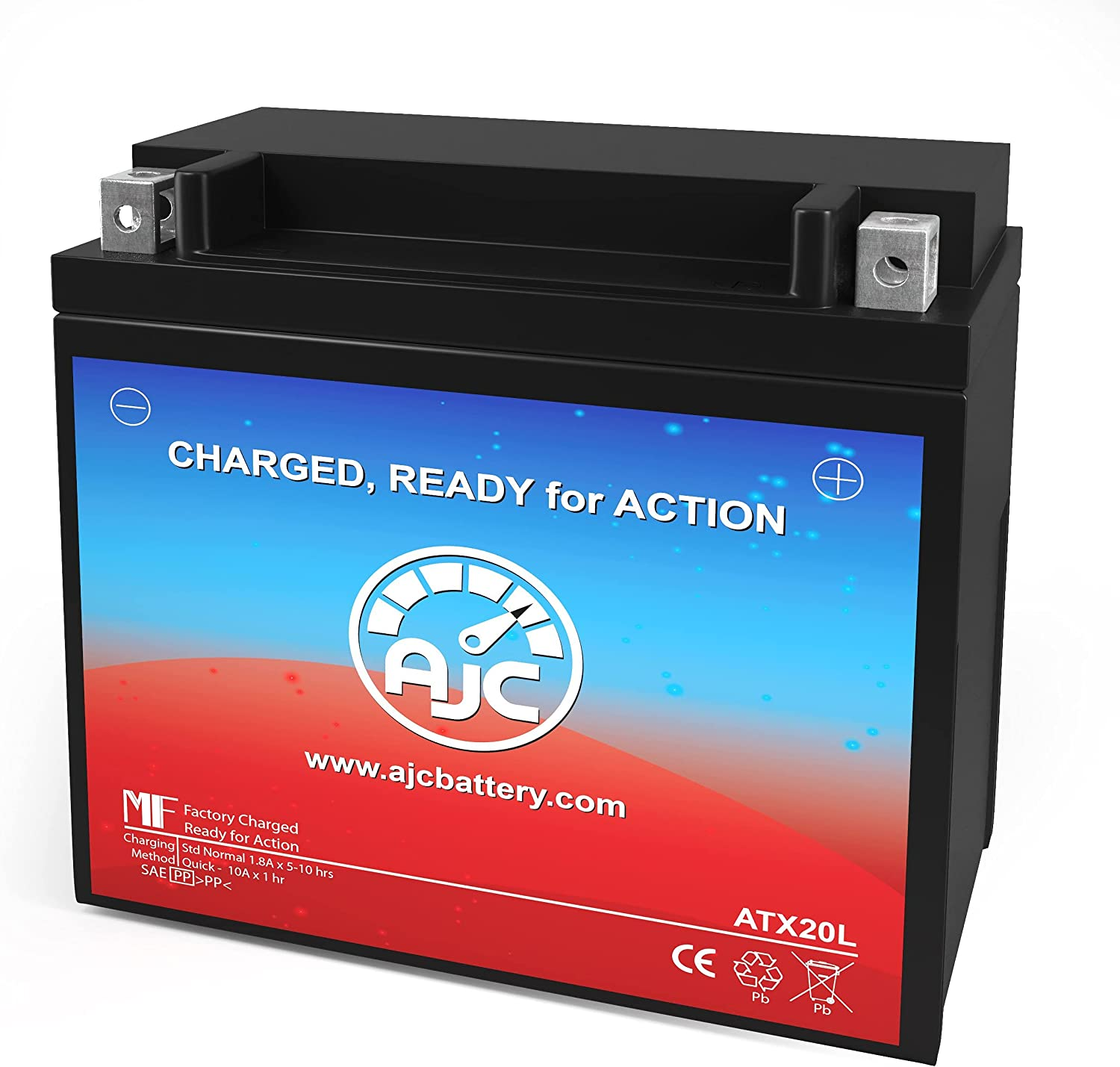 AJC Battery Compatible with Power Source WPX20L-LS Powersports Battery