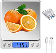 TERSELY Digital Kitchen Scales,USB Charging, 500g/0.01g Mini Food Scales, Electric Cooking Scales, Waterproof Digital Scal...