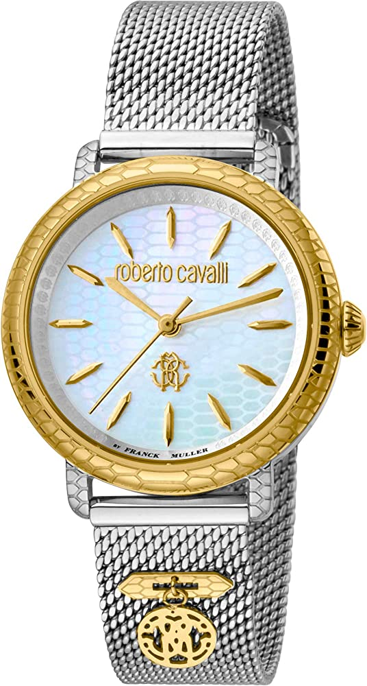 Roberto cavalli by franck muller, orologio elegante per donna,in acciaio inossidabile RV1L098M0106