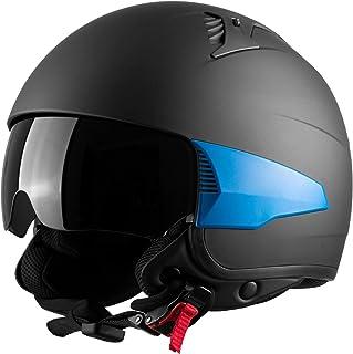 comprar comparacion Westt Rover - Casco Moto Jet Negro Mate Scooter Vespa Chopper + 3 partes laterales intercambiables · Casco de Moto Motocic...