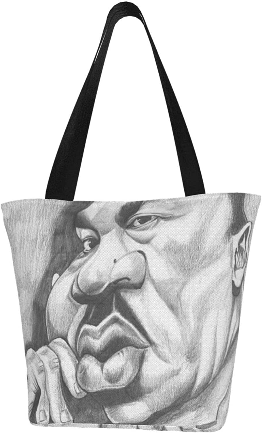 Funny Abstract Martin Luther King Day Themed Printed Women Canvas Handbag Zipper Shoulder Bag Work Booksbag Tote Purse Leisure Hobo Bag For Shopping