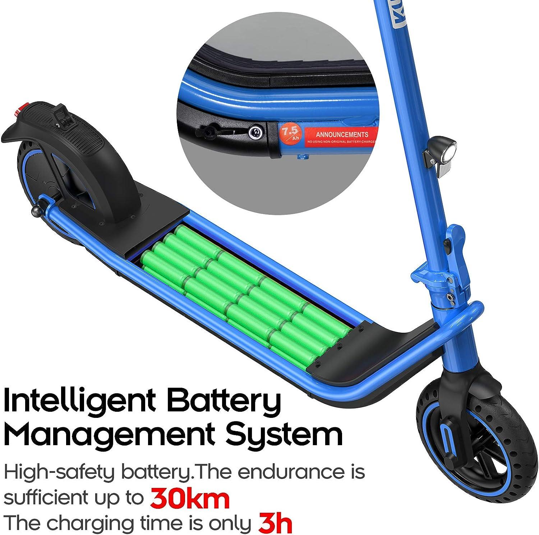 Max Erwachsener Elektroroller mit Batterie und 380W Rollermotor KUKUDEL Faltbarer Elektroroller Belastung 100kg Multifunktionales LCD Display