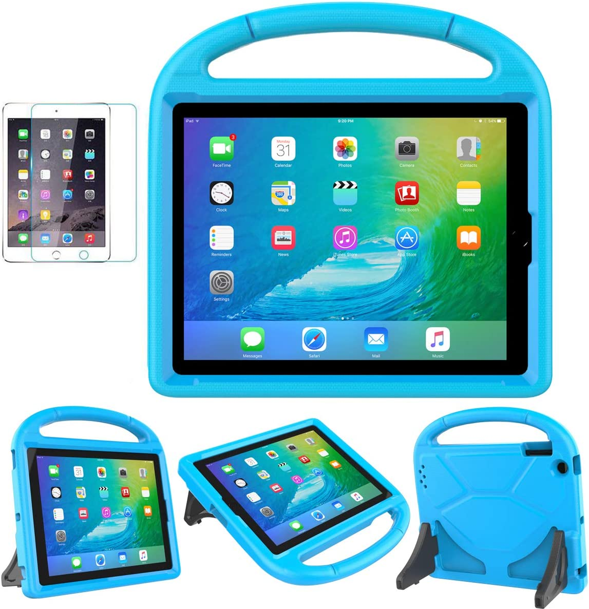 SUPLIK iPad 2/3/4(9.7 inch,2011/2012) Case for Kids - Durable Shockproof Protective Handle Stand Case with Screen Protector for Apple iPad 2nd/3rd/4th Generation(NOT Fit Other 9.7