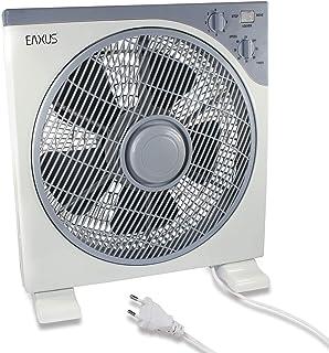 Eaxus - Ventilador de mesa (40 W, con temporizador y 3 velocidades)