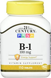 21st Century Vitamin B-1 Tablets, 100 Mg, 110 Count