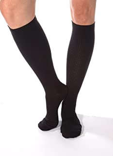 Made in The USA - Absolute Support XL Black Compression Socks for Men 20-30 mmHg Closed Toe - 1 Pair Travel Support Socks ...