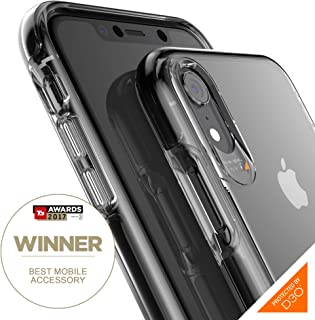 Gear4 Piccadilly Clear Case with Advanced Impact Protection [ Protected by D3O ], Slim, Tough Design Compatible with iPhone XR - Black