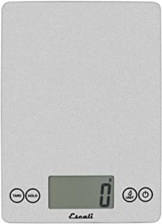 Escali Arti 157SS Precision Glass Surface Kitchen, Herb, Nutrition, Calorie Counting Scale, Digital LCD Display, 15lb Capacity, Shiny Silver