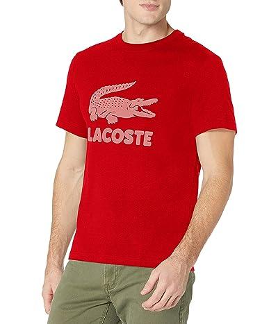 Lacoste Short Sleeve Flocked Graphic Croc T-shirt