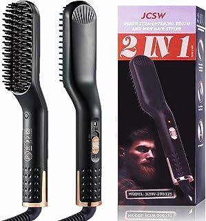 Beard Straightener for Men, Multifunctional Beard and Hair Straightening Comb Electric Ionic Beard/Hair Straightener Brush Portable Heat Hair Straightening Brush for Women for Home and Travel