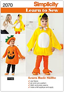 Simplicity Sewing Pattern 2070: Learn To Sew Toddler's Costumes, A (1/2-1-2-3-4)