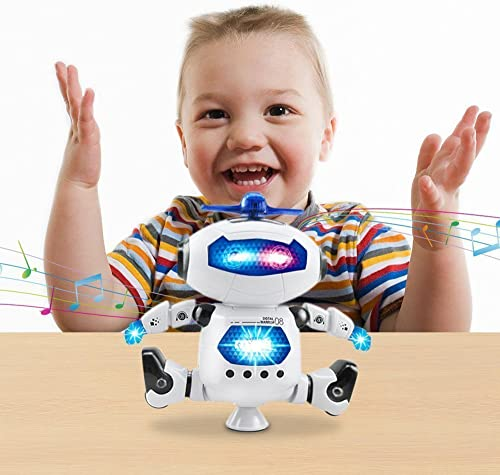 Chocozone 360 Dancing Robot with Lights & Music Toys for 1 Year Old Boys & Girls Attractive Baby Toys