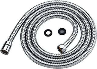 Shower Head Hose Replacemend 79 Inch Extra Long Made of Stainless Steel, Universal Handheld Shower Hose with Brass Fittings, Chrome Finish by Purelux