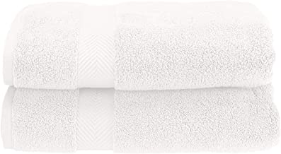 Superior Zero Twist 100% Cotton Bathroom, Super Soft, Fluffy, and Absorbent, Premium Quality Bath Towel, Set of 2, Set, White