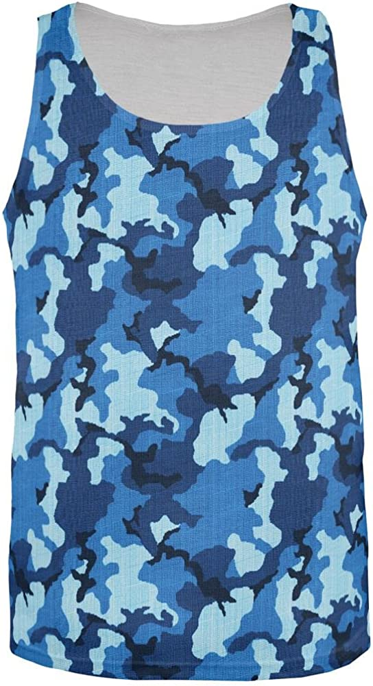 Old Glory Navy Blue Camo All Over Mens Tank Top