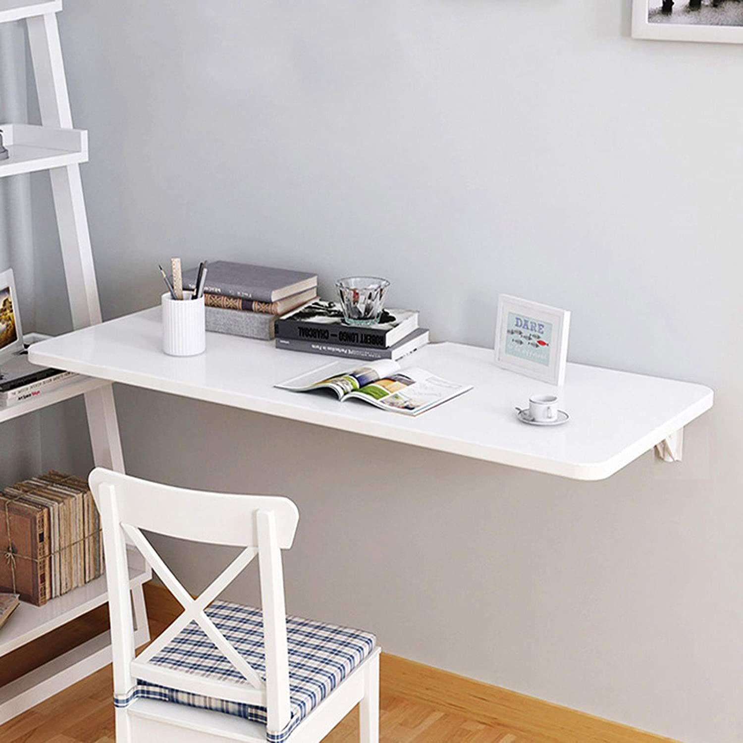 LIUD Small Popular popular Outlet ☆ Free Shipping Tables for Spaces Folding Wall Desk White Mount