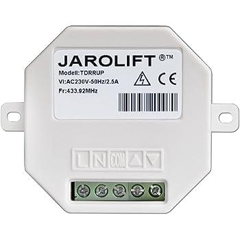 JAROLIFT 4x Moteur tubulaire radio TDEF 10Nm//14tr pour volet roulant avec t/él/écommande portable Timer minuteur 4-canaux TDRCT 04