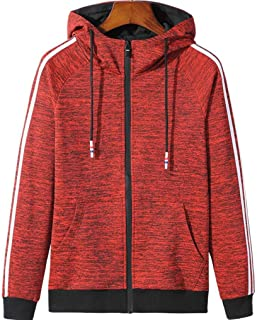 Mens Hoodie Sweatshirt Jumper Sports and leisure cardigan trend paragraph color hooded sweater