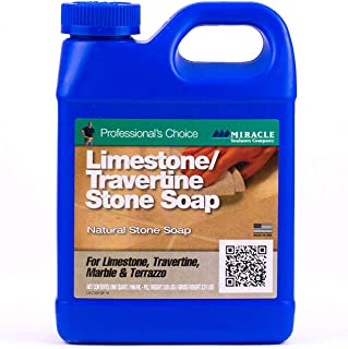 Miracle Sealants LTSS6QT Limestone & Travertine Stone Soap Cleaners, Quart