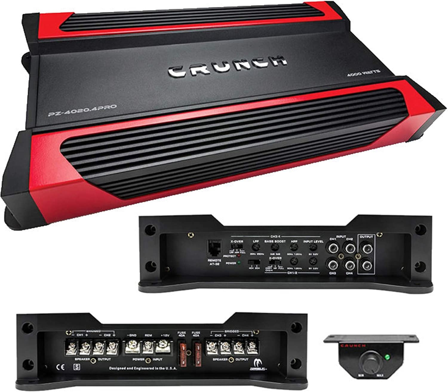 Powerzone 4 Channel Class Ab Amp For Car