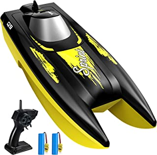 RC Boat for Kids, SYMA Q9 Remote Control Boat for Pools and Lakes with 2.4GHz 10km/h Speed, Double Power, Low Battery Remi...