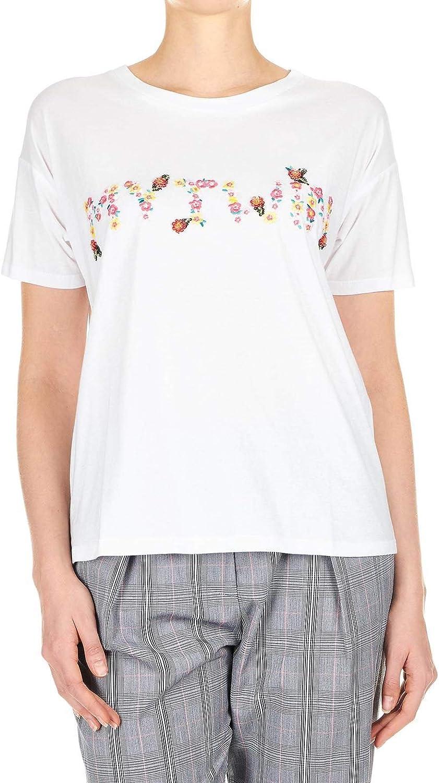 My Twin Women's 191MP206100733 White Cotton TShirt